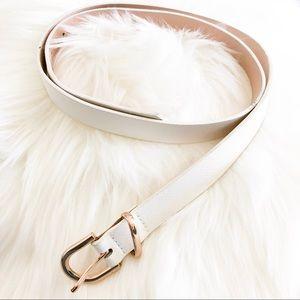 Women's H&M white belt small (s)